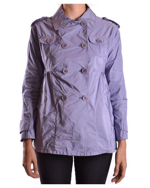 Aspesi | Women's Purple Polyamide Trench Coat | Lyst