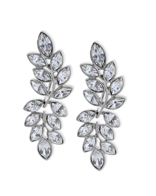 Kenneth Jay Lane | Metallic Women's Silver/crystal Earring | Lyst