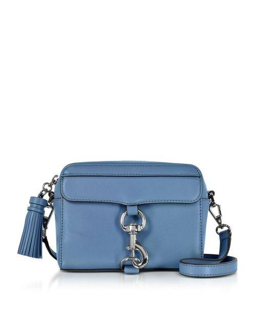 Rebecca Minkoff | Women's Blue Leather Shoulder Bag | Lyst