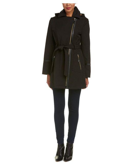Via Spiga | Black Belted Coat | Lyst