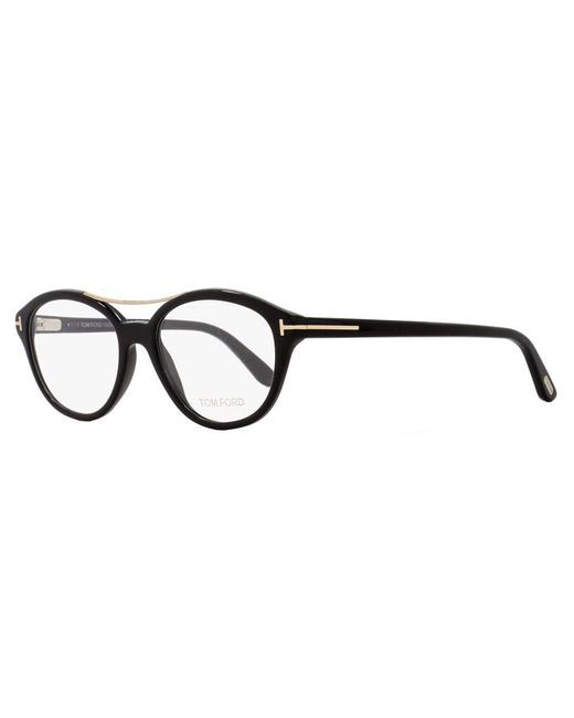 Tom Ford - Oval Eyeglasses Tf5412 001 Size: 52mm Black/gold Ft5412 - Lyst