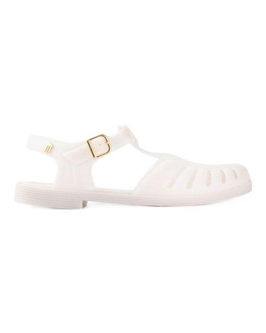 Melissa - Gray Women's Grey Rubber Sandals - Lyst