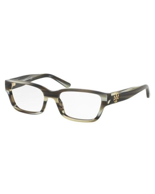 0030d209e214 Tory Burch - Metallic Ty2074 Rectangular Women Eyeglasses Olive Horn  - Lyst