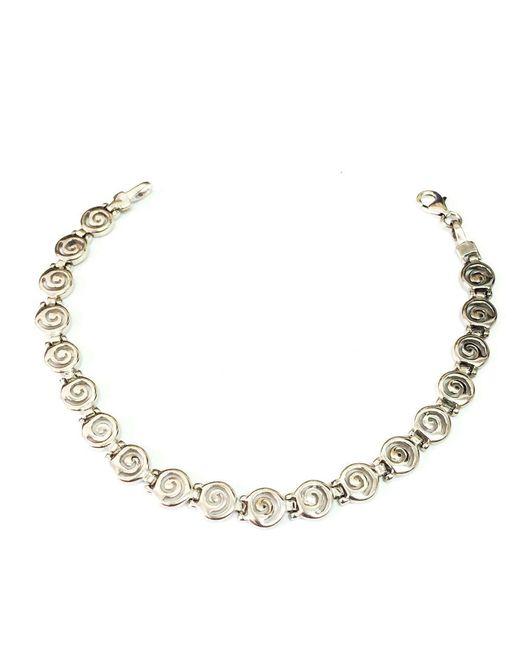 JewelryAffairs - Metallic Sterling Silver Rhodium Plated Greek Spira Bracelet, 7.25 - Lyst
