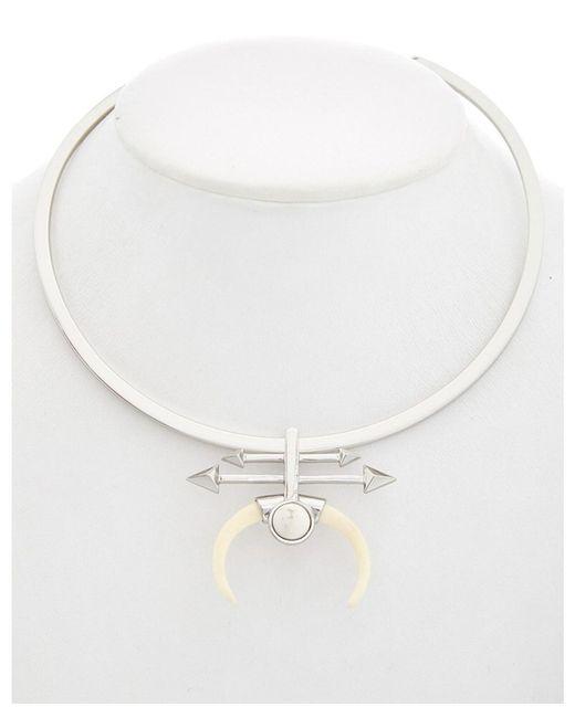 Rebecca Minkoff - Multicolor Resin Tusk Collar Necklace - Lyst