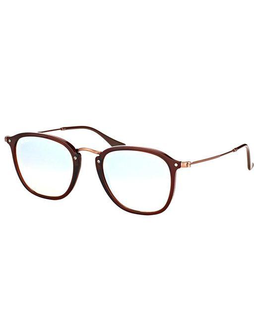 Ray-Ban - Rb2448n 62569u Shiny Transparent Brown Square Sunglasses - Lyst