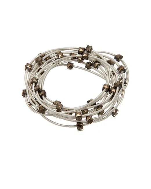Sugar NY | Metallic Sweet Tart Piano Wire Bracelet | Lyst