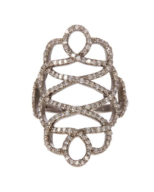 Adornia - Metallic Champagne Diamond Renaissance Ring - Lyst