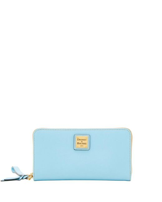 Dooney & Bourke - Blue Emerson Large Zip Around Wristlet - Lyst