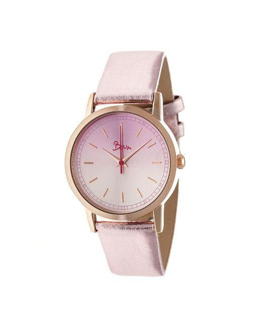 Boum - Pink Ombre Color-fade Leather-band Watch - Lyst