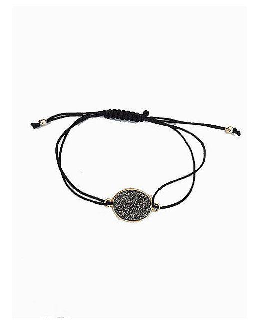 Blue Candy Jewelry | Gray Grey Oval Druzy Bracelet | Lyst