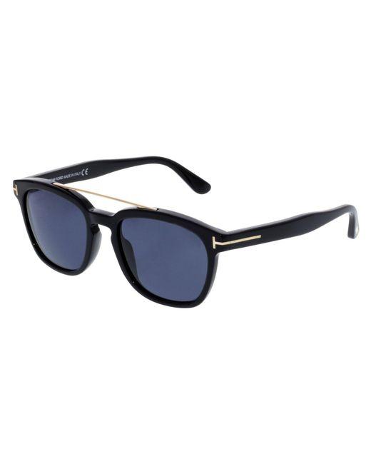 9190d02493 Tom Ford - Men s Holt Ft0516-01a-54 Black Rectangle Sunglasses for Men ...