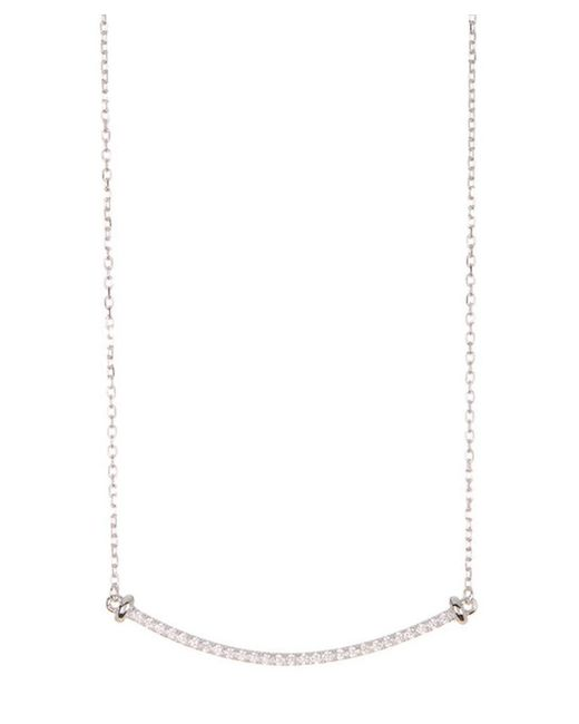 Adornia - Metallic Sterling Silver And Swarovski Crystal Mercer Necklace - Lyst