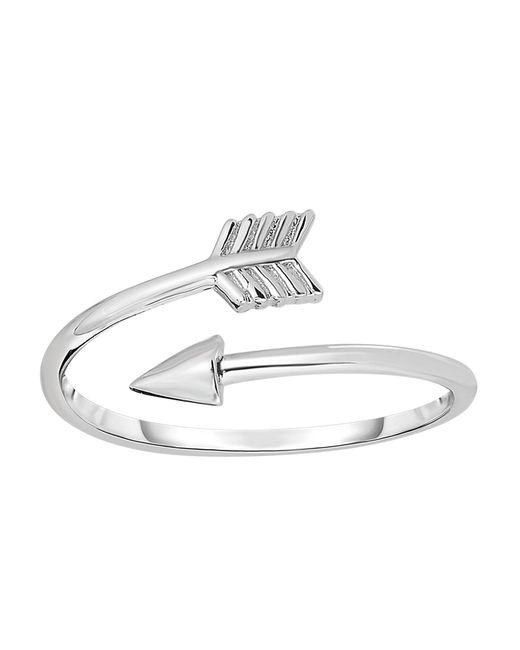 JewelryAffairs - Metallic Sterling Silver Open Bypass Arrow Adjustable Ring - Lyst