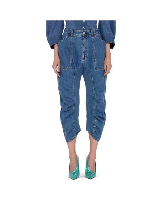 Stella McCartney | Women's Blue Cotton Jeans | Lyst