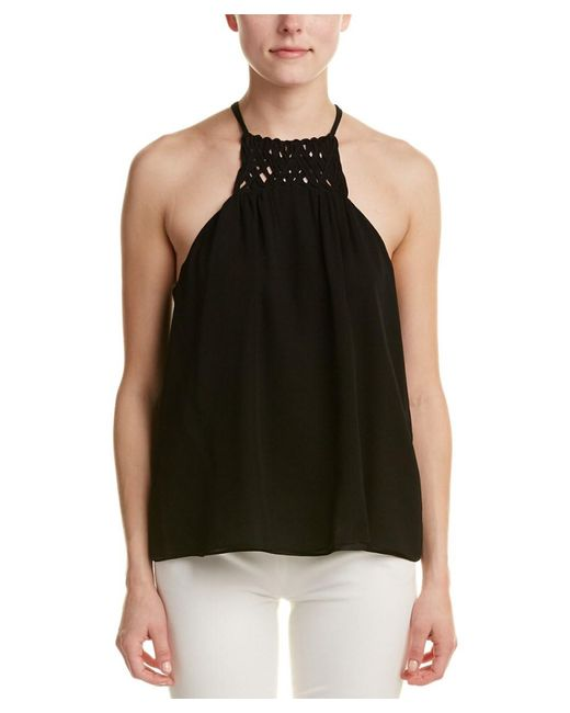 Alice & Trixie - Black Silk Top - Lyst