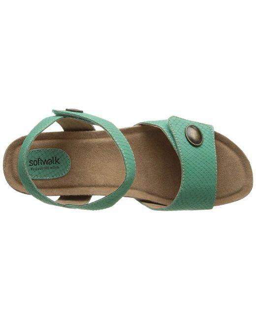 1476646b9 ... Softwalk® - Green Women s Jordan Wedge Sandal - Lyst