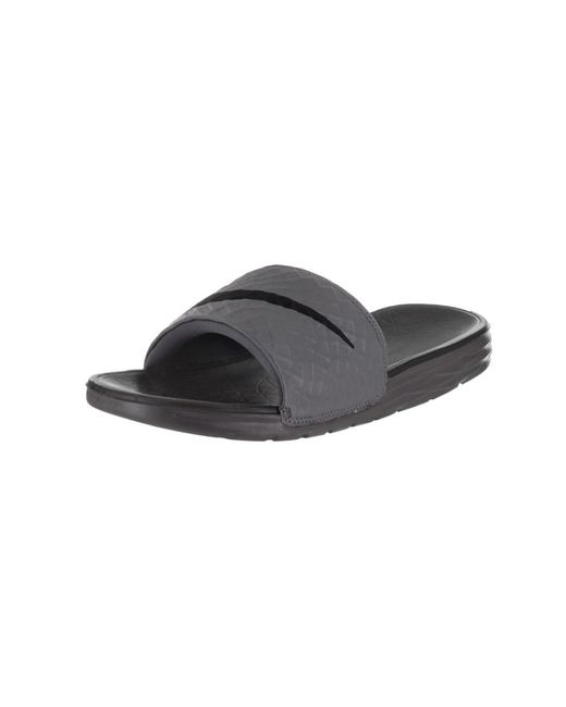 Nike - Gray Men's Benassi Solarsoft Sandal for Men - Lyst ...