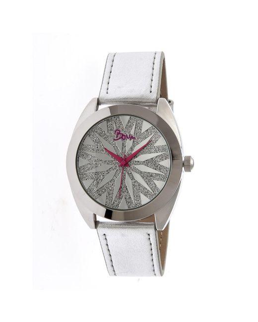 Boum - Metallic Etoile Leather-band Watch - Lyst