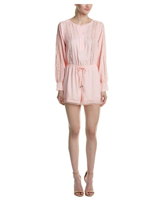 Adelyn Rae | Pink Lace Insert Romper | Lyst