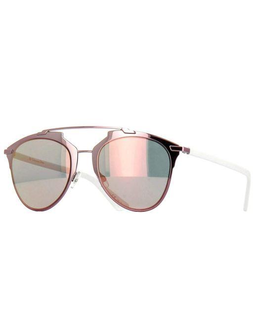 Dior - Reflected M2q 0j Pink White Aviator Sunglasses - Lyst