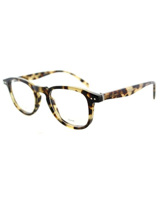 Céline - Thin Charlie Cl 41404 3y7 Brown Square Eyeglasses - Lyst