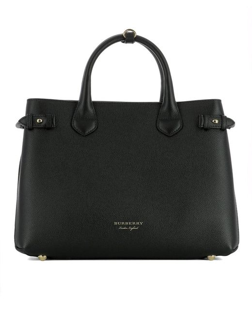 a8ab9c94d573 Lyst - Burberry Women s Black Leather Handbag in Black