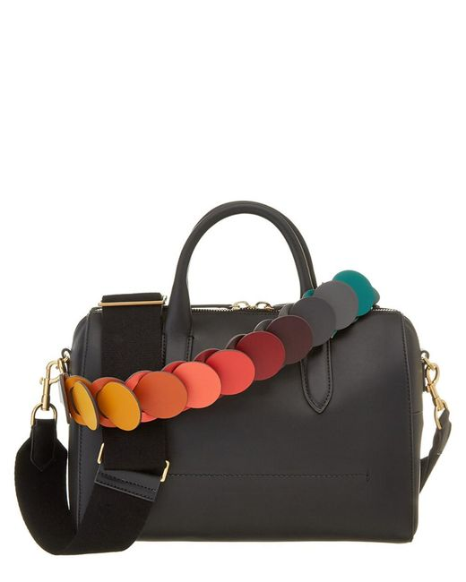 Anya Hindmarch   Black Vere Barrel With Link Strap Leather Bowler   Lyst