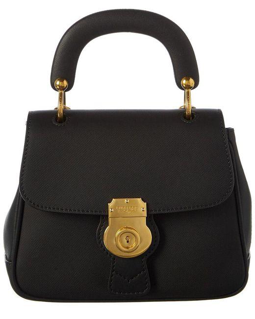 Burberry - Black Dk88 Top Handle Leather Shoulder Bag - Lyst