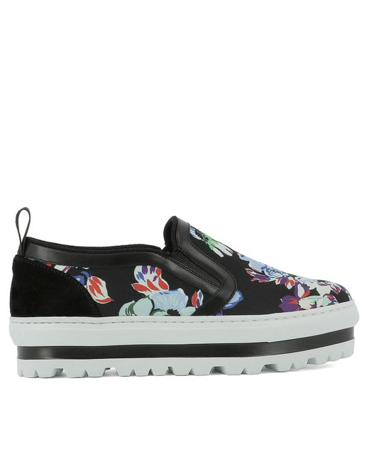 MSGM - Women's Multicolor Fabric Slip On Sneakers - Lyst