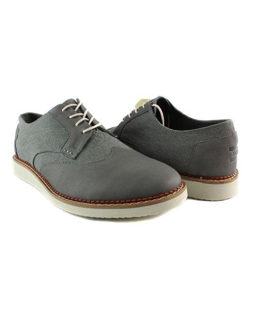4e452ac2766 ... TOMS - Multicolor Mens Brogues Darkgreyleather washedcanvas Oxford  Dress Shoe for Men - Lyst ...