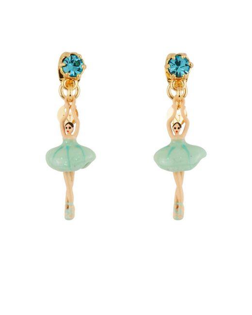 Les Nereides   Blue Mini Pas De Deux With White Ballerina Clip Earrings   Lyst