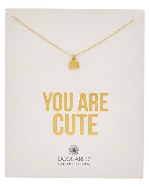 Dogeared - Metallic 14k Over Silver You Are Cute Necklace - Lyst