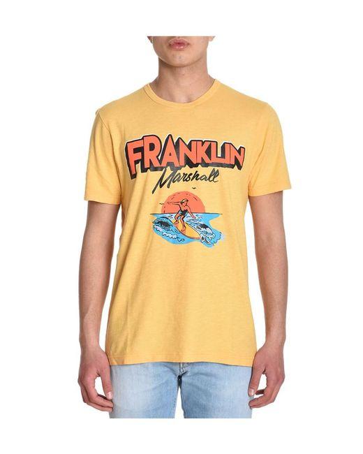 Franklin & Marshall | Men's Yellow Cotton T-shirt for Men | Lyst