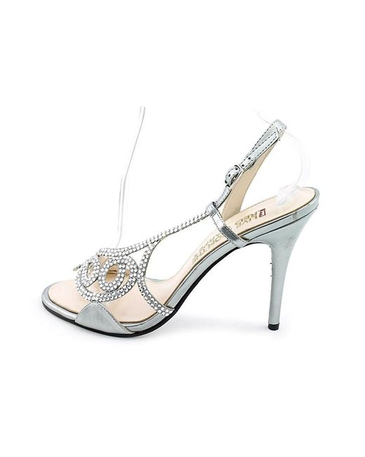 E! Live From The Red Carpet - Metallic E0014 Open Toe Canvas Sandals - Lyst