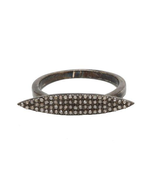 Adornia - Metallic Champagne Diamond And Sterling Silver Dagger Ring - Lyst