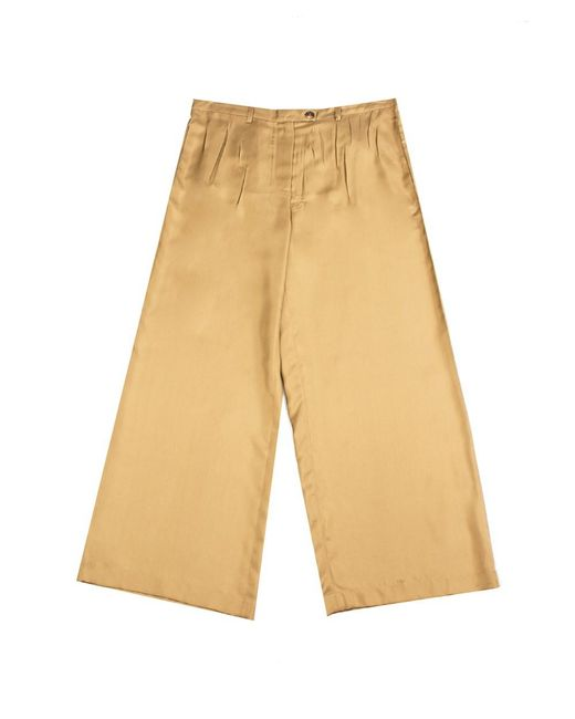 Prada - Women's Silk Trouser Pants Brown - Lyst