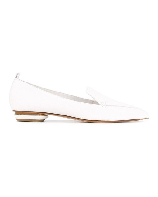 Nicholas Kirkwood - Women's White Leather Flats - Lyst