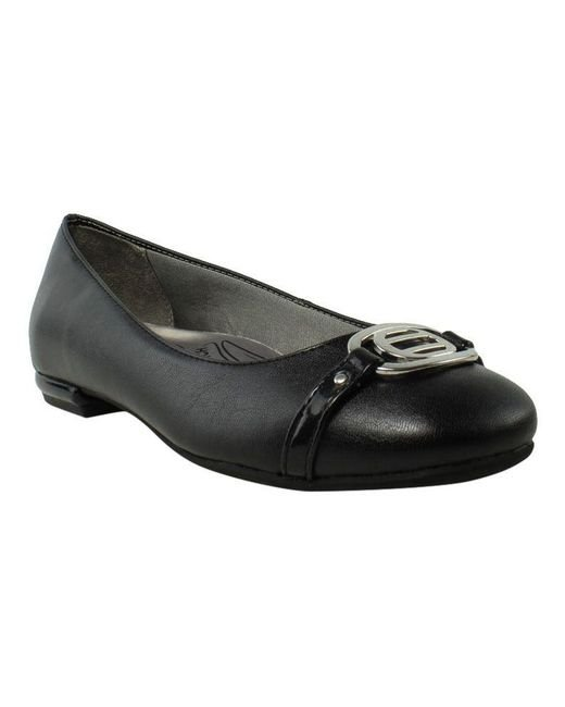4ce3bc61f54b Lyst - Lifestride Womens Blissful Black Ballet Flats (c
