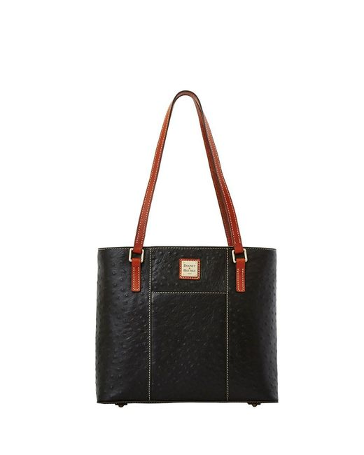 Dooney & Bourke - Black Ostrich Small Lexington Bag - Lyst