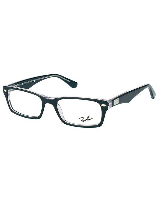 Ray-Ban - Black Rectangle Plastic Eyeglasses - Lyst