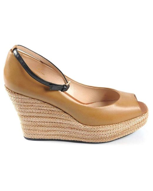 Tod's - Natural Ladies Sandal - Lyst