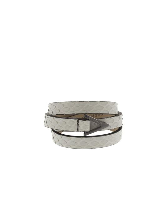 Nada Sawaya - White Wrap Me - 3 Rows Python Wrap Bracelet - Lyst