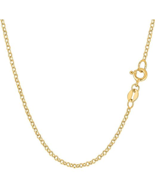 JewelryAffairs - 14k Yellow Gold Round Rolo Link Chain Necklace, 1.85mm, 20 Inch - Lyst