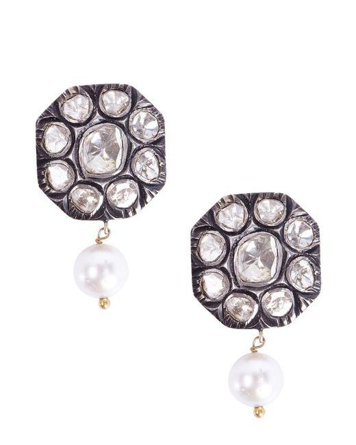 Socheec Drop Diamond Stud Earrings FPdl8hjEel