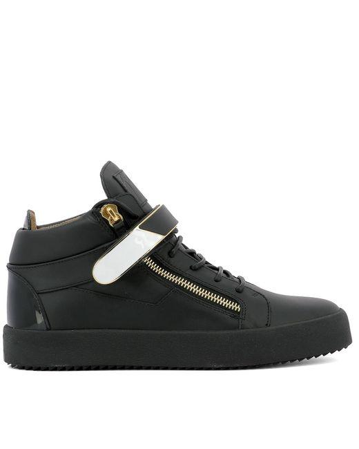 Giuseppe Zanotti - Men's Black Leather Hi Top Sneakers for Men - Lyst