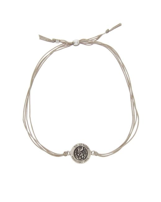 Dogeared - Metallic St. Christopher Silver Bracelet - Lyst