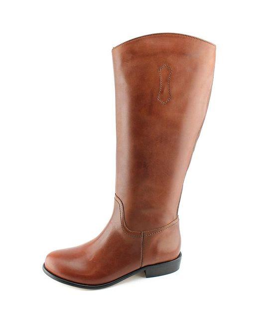 Corso Como - Geneva Wide Calf Women Round Toe Leather Black Knee High Boot - Lyst