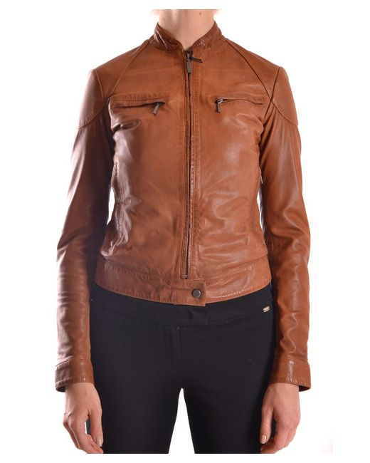 Brema - Women's Brown Leather Outerwear Jacket - Lyst