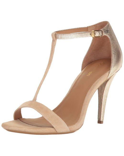 Calvin Klein - Natural Women's Nasi Heeled Sandal - Lyst